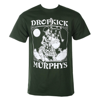 Мужская футболка Dropkick Murphys - Skelly Piper - Forest Green - KINGS ROAD, KINGS ROAD, Dropkick Murphys