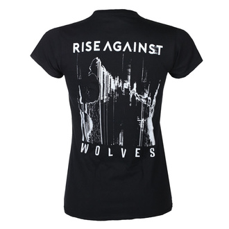 Женская футболка Rise Against - Wolves Pocket Girl Fitted - Черный - KINGS ROAD, KINGS ROAD, Rise Against