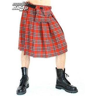килт мужской Black Pistol - Short Kilt Tartan Red, BLACK PISTOL