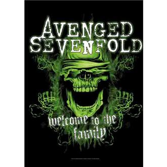 Флаг Avenged Sevenfold - Welcome to the Family, HEART ROCK, Avenged Sevenfold