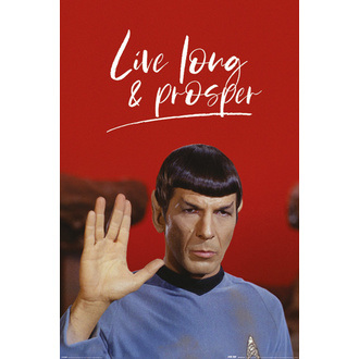 Плакат STAR TREK - LIVE LONG AND PROSPER - PYRAMID POSTERS, PYRAMID POSTERS, Star Trek