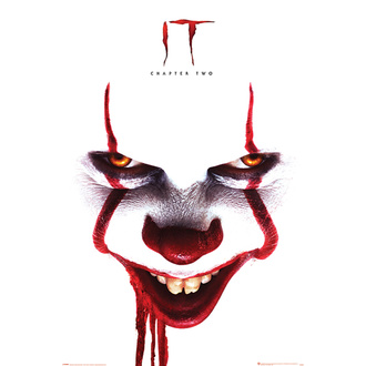 Плакат ИТ 2 - Pennywise face - PYRAMID POSTERS, PYRAMID POSTERS