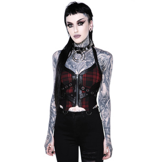 Женский топ (корсет) KILLSTAR - Cadaver Zip Top - TARTAN, KILLSTAR