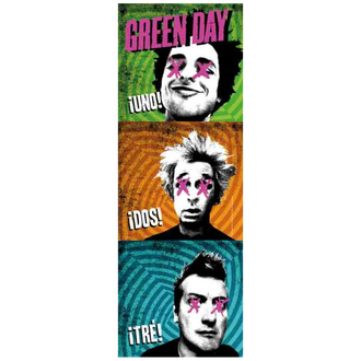 Флаг Green Day - 1-2-3, HEART ROCK, Green Day