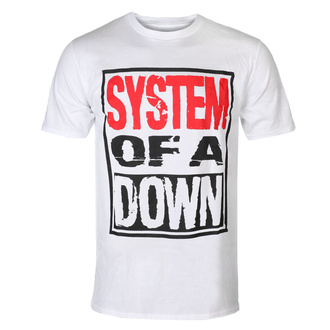 Мужская футболка System Of A Down - Triple Stack - WHT - ROCK OFF, ROCK OFF, System of a Down