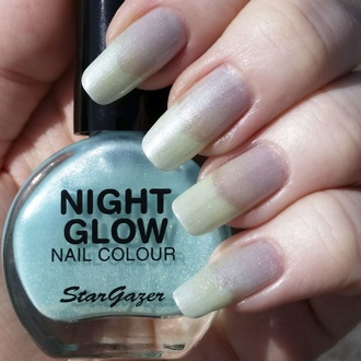 Лак для ногтей STAR GAZER - Glow In The Dark - сияют нефрит, STAR GAZER