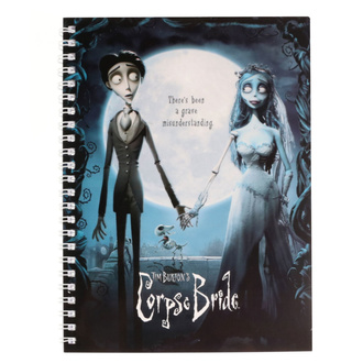 Блокнот Dead bride Tim Burton - Movie Poster, NNM, Corpse Bride