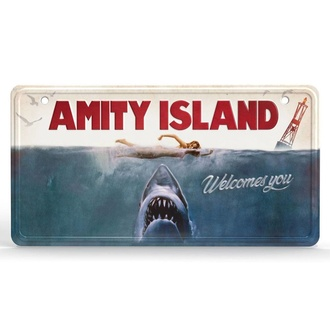 Знак AMITY ISLAND - Metal Sign Movie Poster, NNM, JAWS