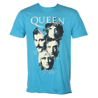 Мужская футболка QUEEN - AUTOGRAPHS - Teal PANTHER - AMPLIFIED, AMPLIFIED, Queen